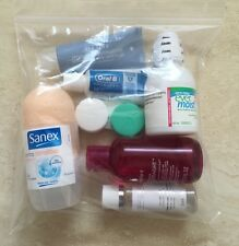 5 Clear Carry-on Aeroplane Travel Resealable Plastic Pouch Bag-shampoo