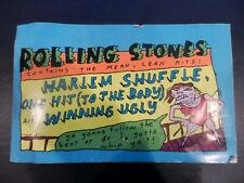 """Rolling Stones Promotional Display Sticker 16"""" x 10"""" (Very Rare!) Harlem Shuffle"""