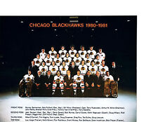 1980 1981 CHICAGO BLACK HAWKS 8X10 TEAM PHOTO ESPOSITO FOX HOCKEY NHL USA HOF