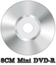 50x Mini 8CM DVD-R en Blanco Video Cámara Videograbadora Disco Plata (4x 30min 1.4GB)