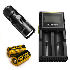 Nitecore EC11 900Lm Flashlight -Includes D2 Charger & 2x IMR 18350 Battery