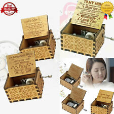 You Are My Sunshine-Wooden Music Box To Daughter/Mum/DAD/Son/Sunshine/Wife