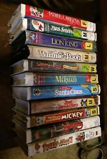 VHS Lot of 11 Tapes Disney, Muppets, Winnie the Pooh, Christmas.  Old rentals.