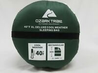 "Ozark Trail XL Deluxe Cool Weather Sleeping Bag 80"" x 36"" Polyester Fiber New"