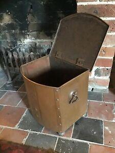Copper Coal Bucket With Lid 1920S 1930S Art Deco
