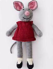 """KNITTING PATTERN - LOVELY COUNTRY MOUSE STUFFED BABY CHILD'S TOY 15"""" (38cm) TALL"""