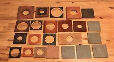 23 Antique Vintage Wood Lens Boards For Folding & View Cameras
