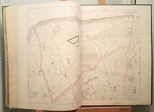 Paris XX ème - Baron Haussmann Très Rare Plan de 1868 au 1/5000 (63x89 cms)