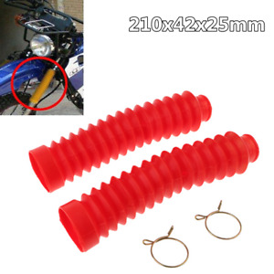 1 Pair Rubber Motorcycle Front Fork Dust Cover Gaiters Gaitors Shock Absorber