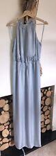 BNWT Beautiful MONSOON 'FREESIA' Blue Blouson Halterneck MAXI Dress.18 RRP-£99!