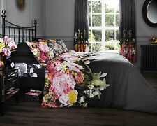 Faded Floral Style Luxury Duvet Cover Sets Quilt Covers Reversible Bedding Sets