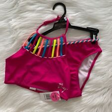 NEW wTag-BETSEY JOHNSON Pink 2pc Bathing Suit M 10