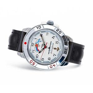 Vostok Komandirskie 431241 Russische Uhr Leder Armband mit Handaufzug Kal 2414A