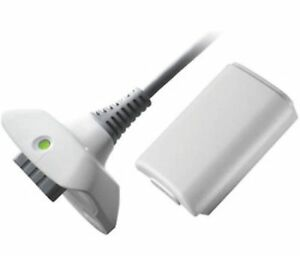 4800mAH Battery Pack + Charge Cable for xBox 360 Control Pad White UK FREE POST
