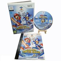 Mario and Sonic at The Winter Olympic Games Wii Game Tested & Complete