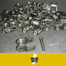 """#160 Chain Offset Link Qty 10 PIECES Half Link 2"""" Pitch 160O/L"""