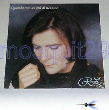 """RENATO ZERO """"QUANDO NON SEI PIU' DI NESSUNO"""" RARO LP 1993 - SIGILLATO"""