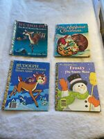Little Golden Books- Rudolph, Frosty, Happiest,  Early 1980's Vintage Christmas