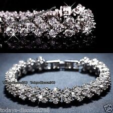 MOTHERS DAY 925 Silver Tennis Bracelet AAA Crystals Gifts For Her Mom Mum Women