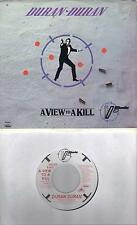DURAN DURAN  A View To A Kill  soundtrack 45 with PicSleeve  JAMES BOND