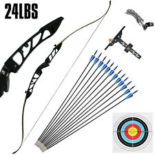 Takedown Recurve BowSet 24LBS Archery BowArrow Adults Youth Shooting Practice