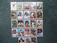 1978 TOPPS BURGER KING DETROIT TIGERS COMPLETE TEAM SET(23) NM, TRAMMELL, MORRIS