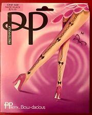 Splendido Pretty Polly Bow-dacious Collant Collant Color Carne-Nero