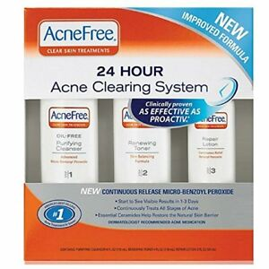 AcneFree 24 Hour Acne Clearing System 3 pc (3 Pack)