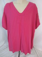 Color Me Cotton Pink Cut Out Sleeves Pull Over Top Shirt - Women's 3X - D176