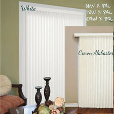 Vertical Blinds Window Shade Patio Door Cordles White Alabaster 66 78 104 Wx 84L