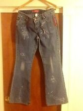 NWT Thalia Sodi Trendy Distressed 5 Pocket Splatter Jeans Size 9/10