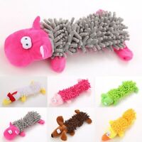 Plush Pet Dog Squeaker Toys Squeaky Funny Sound Play Mop Chewing Puppy Cat Toy