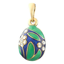 Faberge Egg Pendant / Charm with crystals 2.2 cm #6201