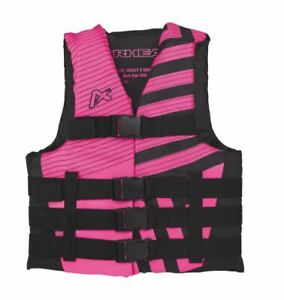 Airhead Womens Pink Black Life Jacket Wakeboard Vest Ski 2XL/3XL