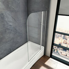 P593 Badewannenaufsatz Duschabtrennung Duschtrennwand Badewannen 4mm Echtglas