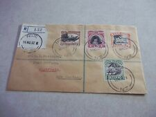 NIUE Cook Islands UNWATERMARKED Stamps On 1932 Registered Cover To NEW ZEALAND
