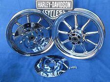 Harley Chrome 9 Spoke Touring Wheels Electra Glide FLH Ultra Road King FLHX