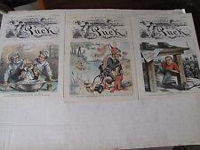 3-1886 Political Lithographs from Puck Uncle Sam, Civil Service Reform, Jingo