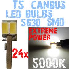 24x LED T5 5630 5000k Blanc Tableau de Bord Intérieurs Ampoule NO ERROR 1E10 1E1