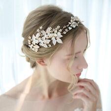 40x8 cm Handmade Flower Crystal Wedding Bridal Head Pieces Hair Clip Accessories