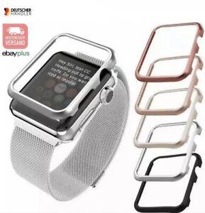 Für Apple Watch Schutz Alu Rahmen Series 2/3/4/5/6 SE 38/40/42/44mm Hülle Bumper