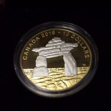 2016 $10 Fine silver coin - Iconic Canada - Inukshuk -  MINTAGE 0002 - 6000