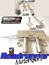 "MILLTEK GOLF MK6 R Corsa Di Scarico 3"" Turbo Back & DE CAT non RES NO VALVOLA TITANIO"