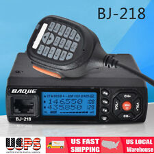 Mini BJ-218 Car Trunk Ham Mobile Transceiver 2-Way Radio Dual Band VHF/UHF 25W