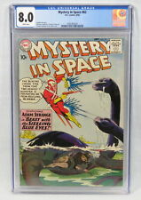 DC Comic Mystery In Space #62 CGC 8.0 Adam Strange Beast Sizzling Blue Eyes 1960