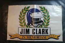Jim Clark Mylar Memorial Sticker, large, rare