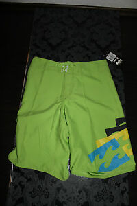 Billabong Boardshorts Swim Trunks Lime Yellow Size 30 New with Label