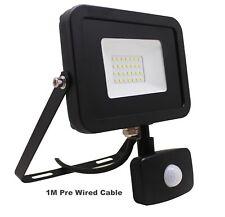 Outdoor 50W Led External PIR Sensor Floodlight Black Daylight White 6500K Output