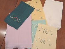 Collection of 8 Antique 100% Linen hand Towels