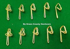 50 X BRASS Curtain hooks pleating tape and pinch French pleat sewing sew fabric